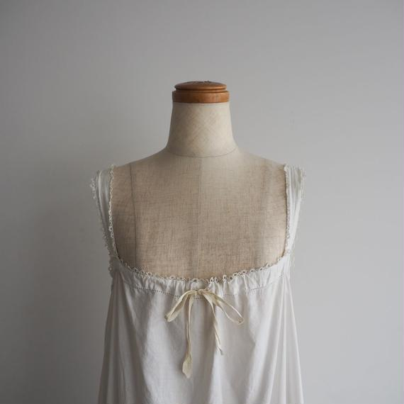 1920s Yellow Ribbon Cotton Dress