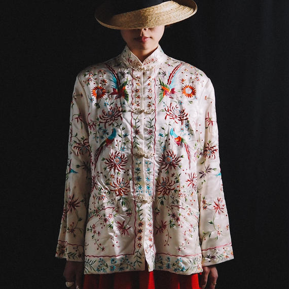 vintage 1950s Hand Embroidered Chinese Jacket
