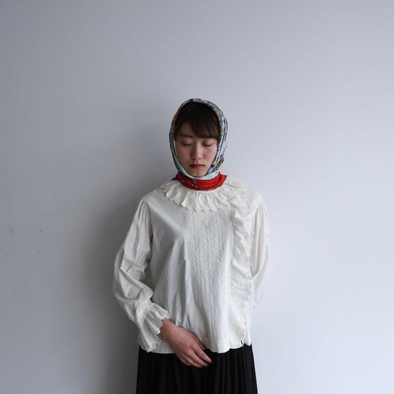 Antique Pierrot Collar Lace Blouse