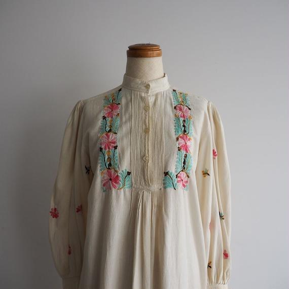 1970s Handmade Embroidered Tunic