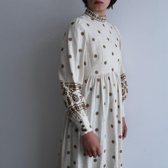 1970s Bohemian Dress