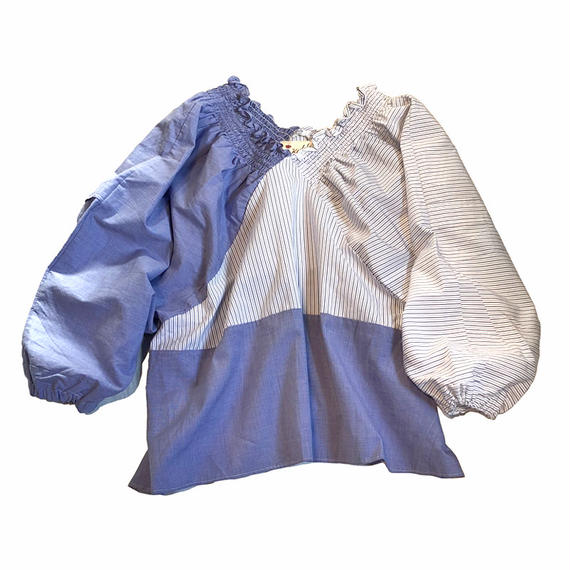 Kidole シャーリング2TONEシャツ
