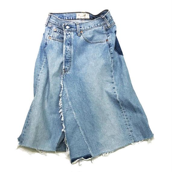 kidole リメイクデニムラップスカート