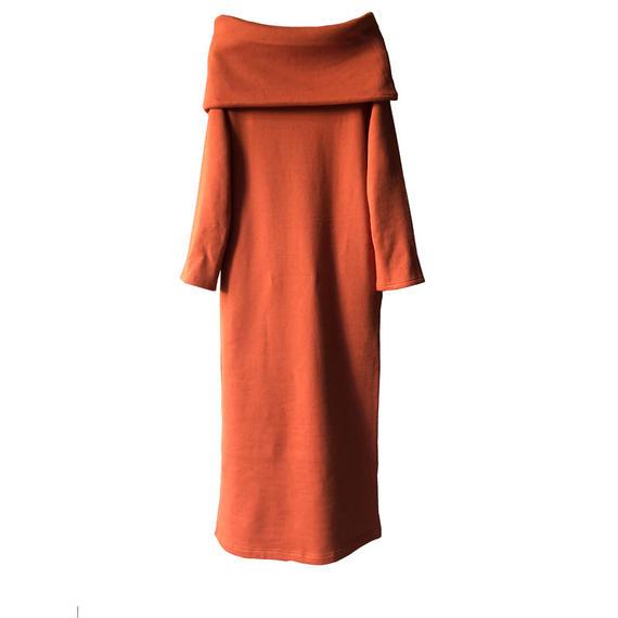 k3&co. SWEAT OFF SHOULDER DRESS
