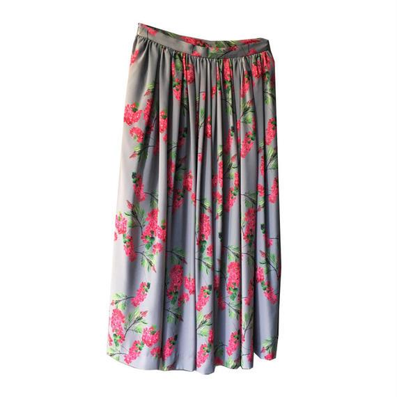 Flower Printed Gather Skirt