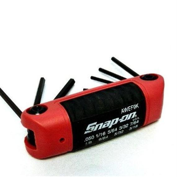 Snap-on  ヘックスレンチ インチサイズ AWEF9K