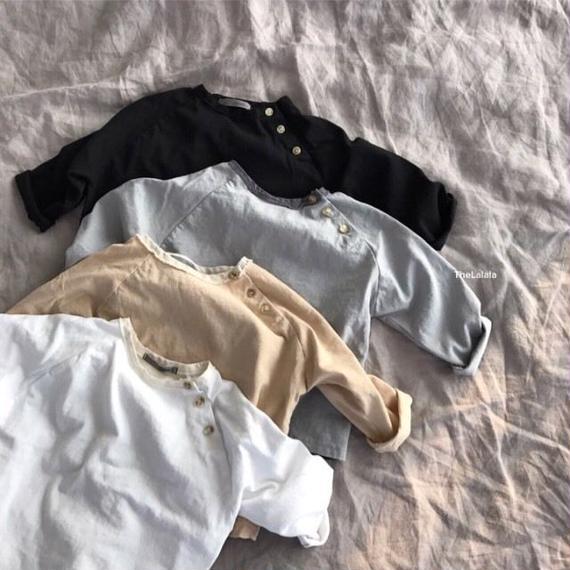 【ペア】切り替えラグランTシャツ*mom