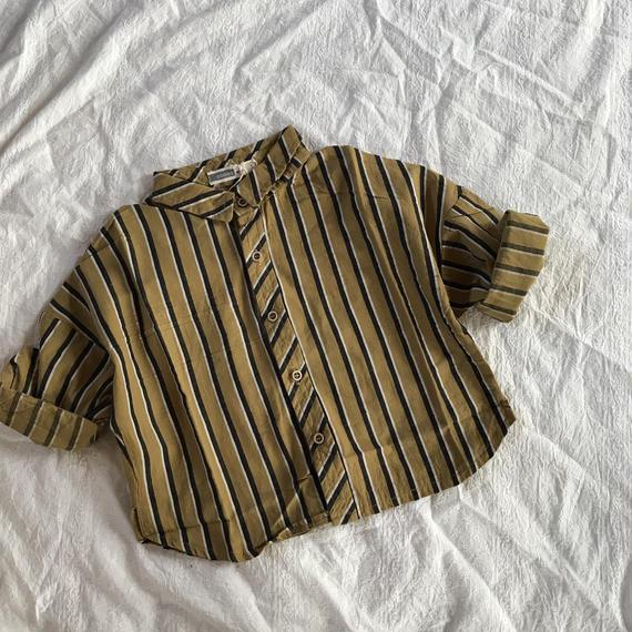 ストライプワイドシャツ