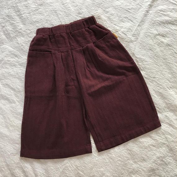 stripe wide pants*wine