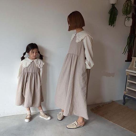 【ペア】リボンワンピース*mom