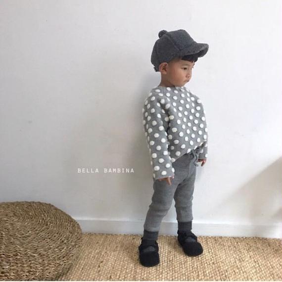 GUNO.  dot pullover*light grey 80cmのみ