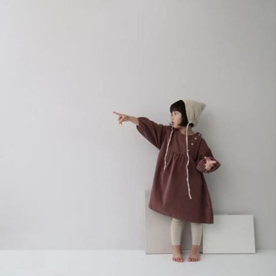 corduroy dress*dusty pink 80cmのみ