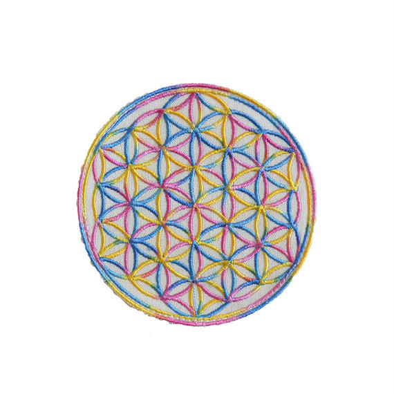 """flower of life"" patch rainbow (gw007a)(sw001)"