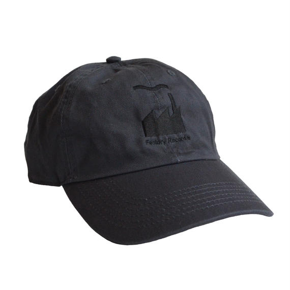 """Factory Records""  / Washed Twill Low Cap / charcoal gray (luz.fac.c)"