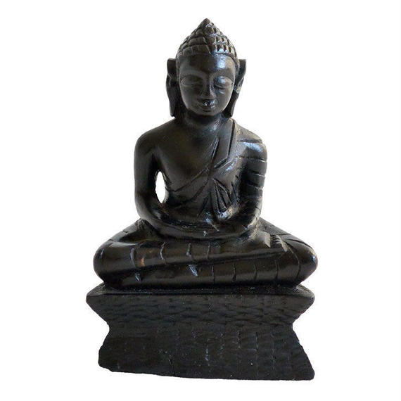 antique black buddha object (go010)