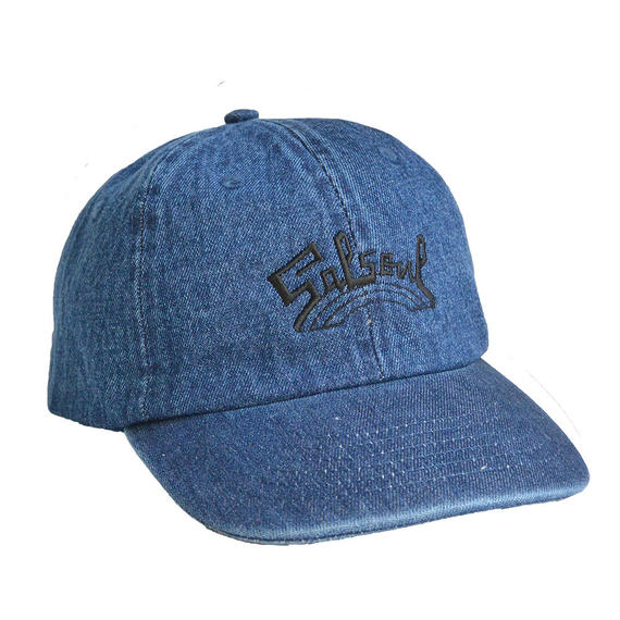 """Salsoul Records"" / Washed  Denim Low Cap / Indigo Blue (luz.sal.ib.c)"