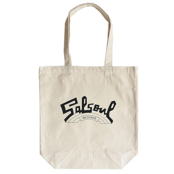 """Salsoul Records""/ Cotton Canvas Tote Bag / Natural (luz.sal.t)"