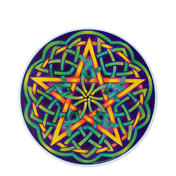 "【 starshine arts 】fiona mcauliffe ""celtic pentagram"" sticker (ss-3)"