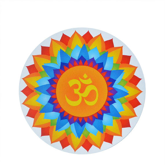 "【 starshine arts 】""om burst lotus"" sticker (ss-12)"
