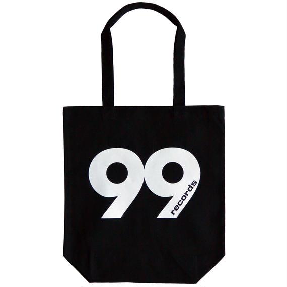 """""""99 records"""" / Cotton Canvas Tote Bag / Black (luz.99.t)"""