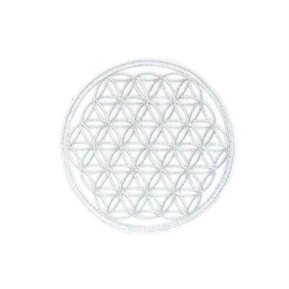 """flower of life"" patch gray (sw002)"