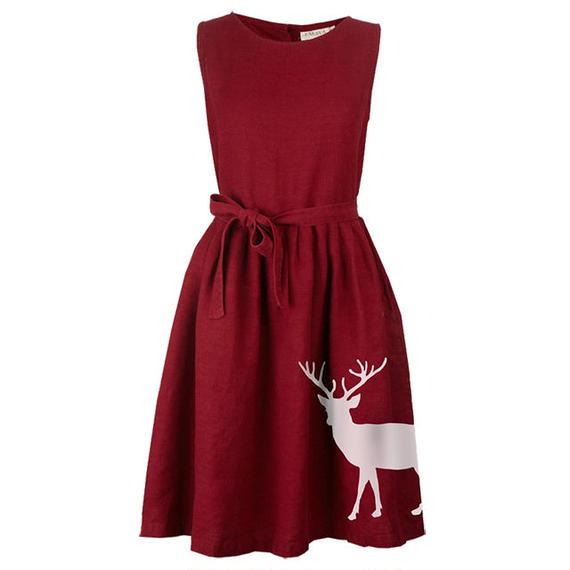 mabel/reindeer/burgundy