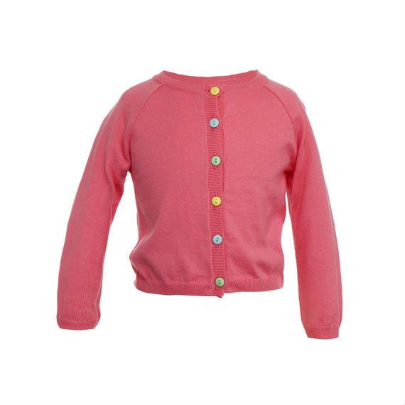 classic cardigan/rose/4-7y