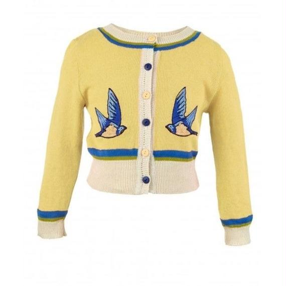 classic cardigan/swallow/lemon 4-7y
