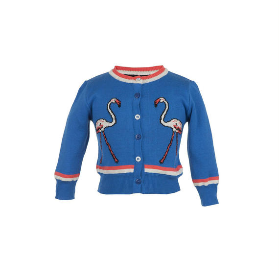 flamingo cardigan/royal blue/1-4y