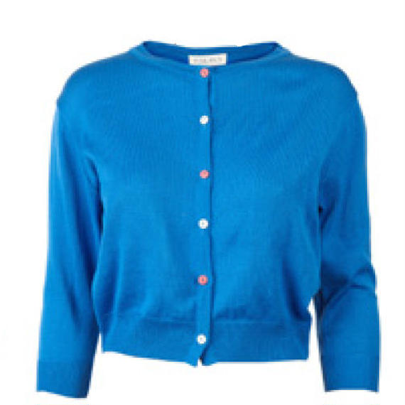classic cardigan/royal blue