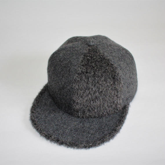 two tone baseball cap ( wool&shaggy )