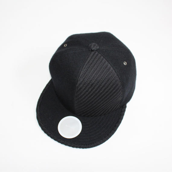 two tone baseball cap ( black&black )