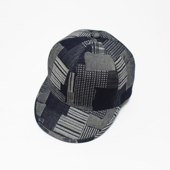 6 panel cap (woman) indigo patchwaork