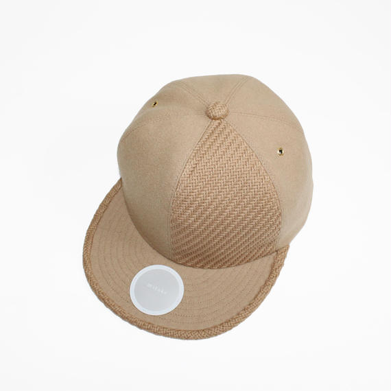 two tone baseball cap ( beige&beige )