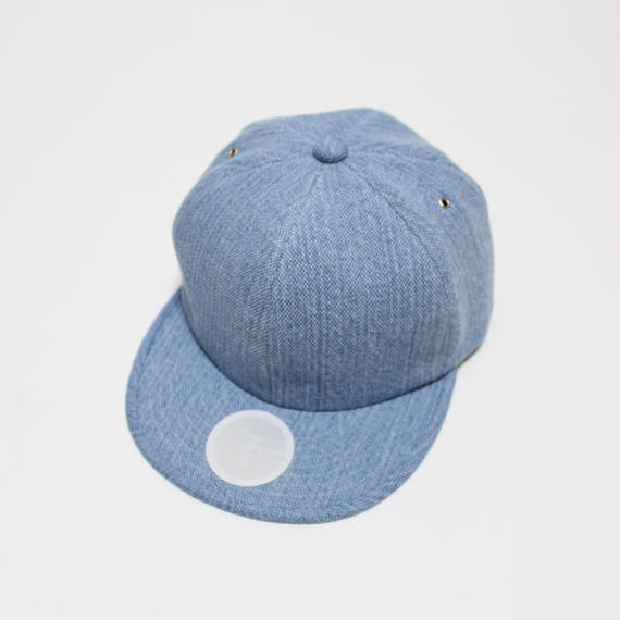 6 panel cap (man) light blue