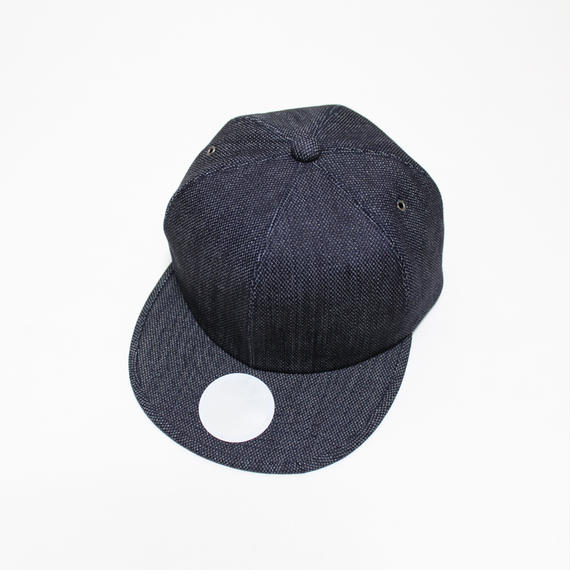 6 panel cap (man) indigo