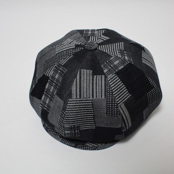 big casquette (man)indigo patchwork