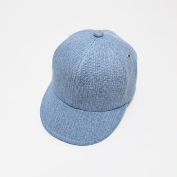 6 panel cap (woman) light blue