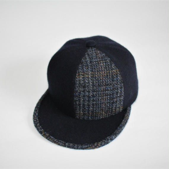 two tone baseball cap ( wool&tweed )