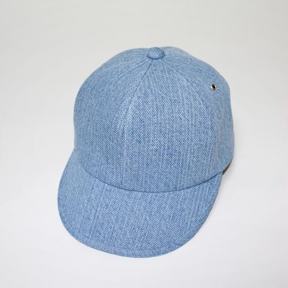 6 panel cap (woman) light blue