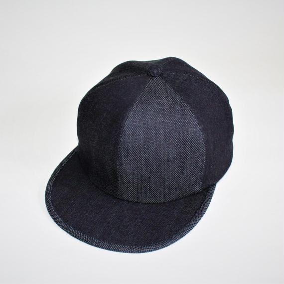 two tone baseball cap ( indigo&yasuri )