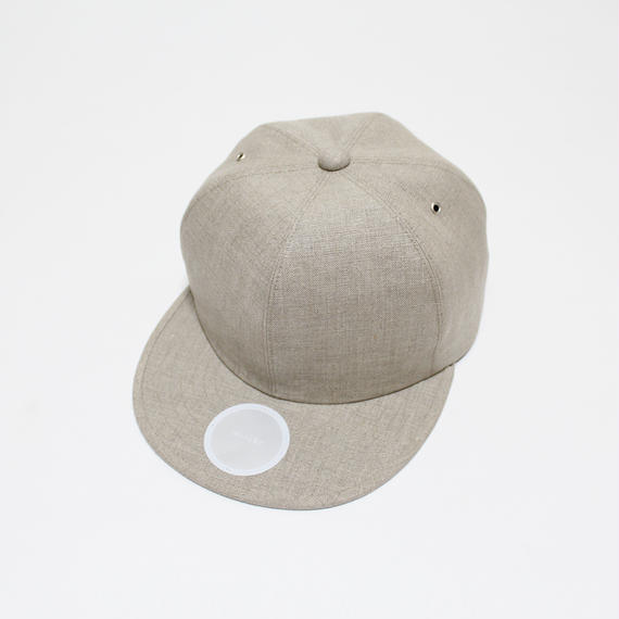 linen 6 panel cap (man) natural