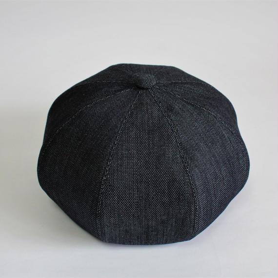 one wash yasuri denim big beret (man)