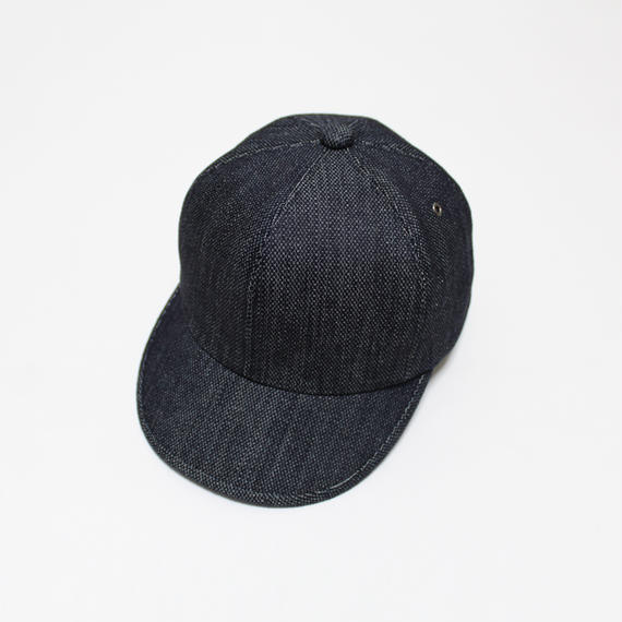6 panel cap (woman) indigo