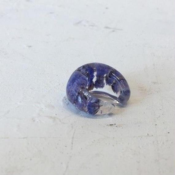 霞草のイヤーカフ (antique purple)