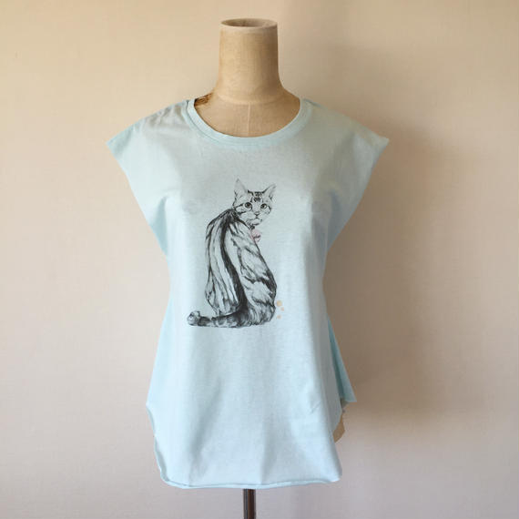 KELLY SMITH CAT T-SHIRT (BLUE)