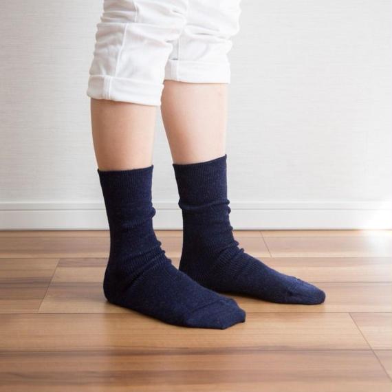 【新色】ゴムなししめつけない靴下 杢ネイビー_SO001-NV