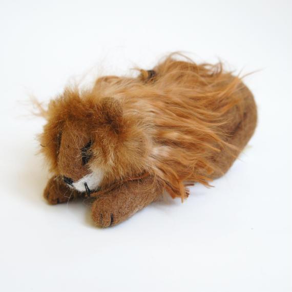 置物 ライオン アルパカのフェルト人形
