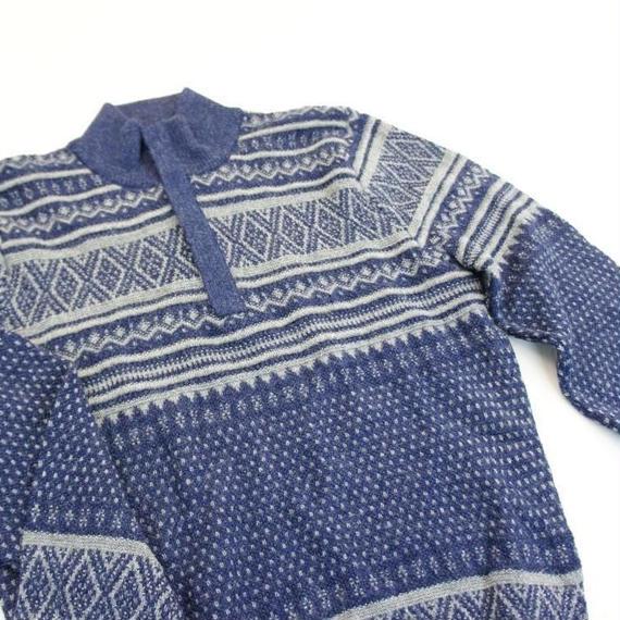 ベビーアルパカジップアップセーター(メンズサイズ)