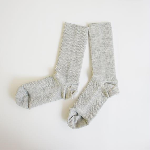 ゴムなししめつけない靴下/ ライトグレー_SO001-LG